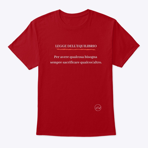Equilibrio   Learn Amo Collection Deep Red T-Shirt Front