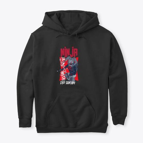 21st Century Ninja Female Black T-Shirt Front