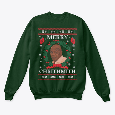 New! Merry Chrithmith Sweater Deep Forest  T-Shirt Front
