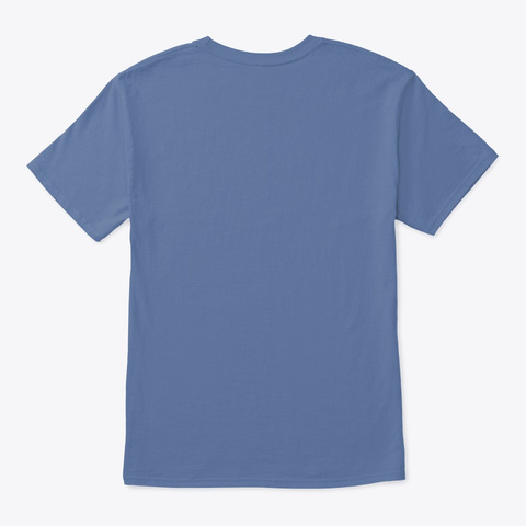 Kali Tiger Silhouette Denim Blue T-Shirt Back