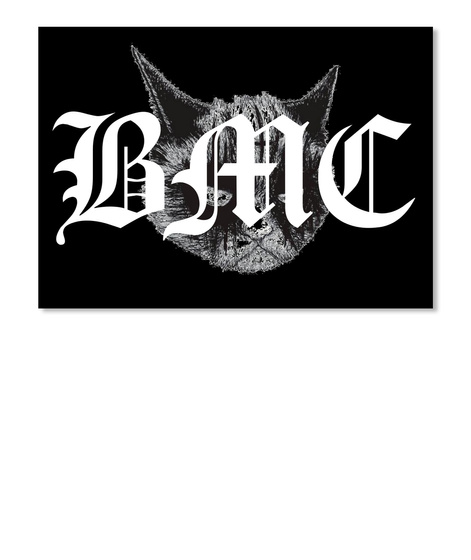 Bmc Logo Products Black Metal Cats Teespring Sticker Gambar Stiker