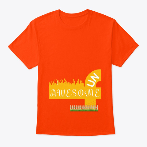 Awesome Fun Orange T-Shirt Front