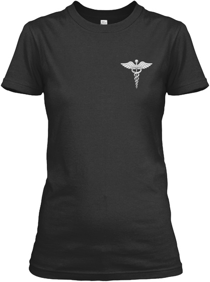 Nurse   Wings Black T-Shirt Front