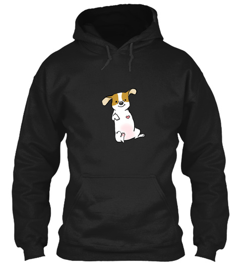 Three Legged Pup, Tripod Love Black T-Shirt Front