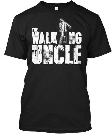 The Walking Uncle Black T-Shirt Front