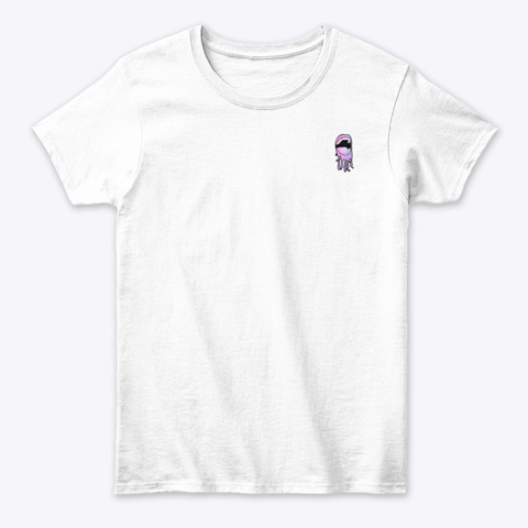 Colored Mouth Front And Back White T-Shirt Front
