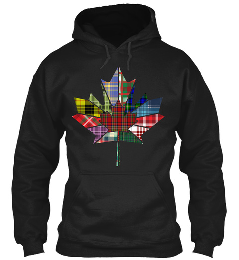Canadian Scot Cut From A Different Cloth Black T-Shirt Front