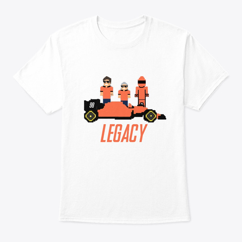 Racing Legacy T Shirt White T-Shirt Front