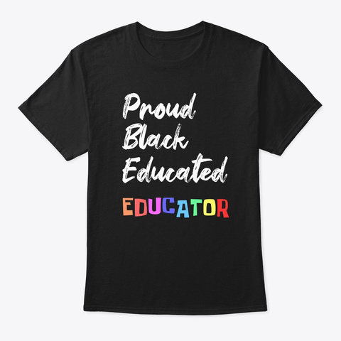 Pretty Black Educated Women Diva Afro Black T-Shirt Front