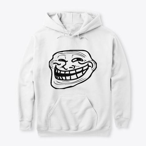 Troll White T-Shirt Front
