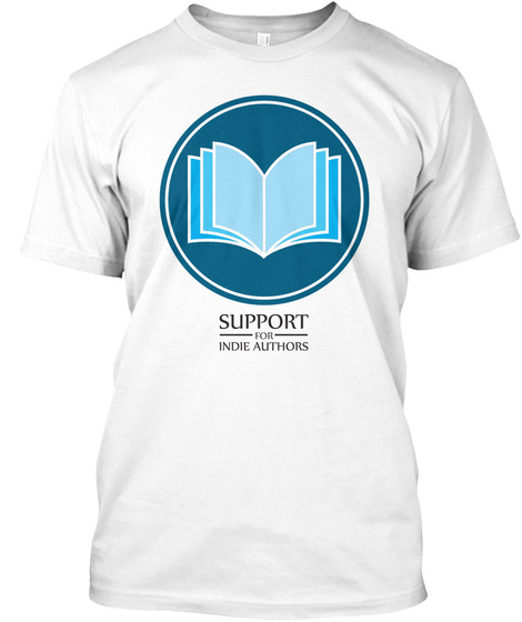 Support Indie Author New Logo White T-Shirt Front