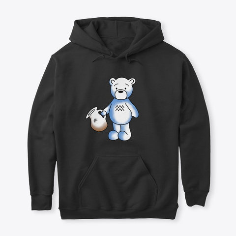 The Water 'bear Er' #Classic Aquarius Black Sweatshirt Front
