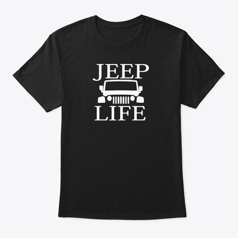 Jeep Life Design Black T-Shirt Front
