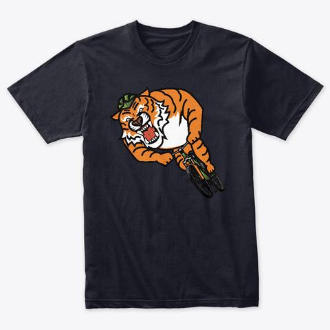 Tiger Shred Vintage Navy T-Shirt Front