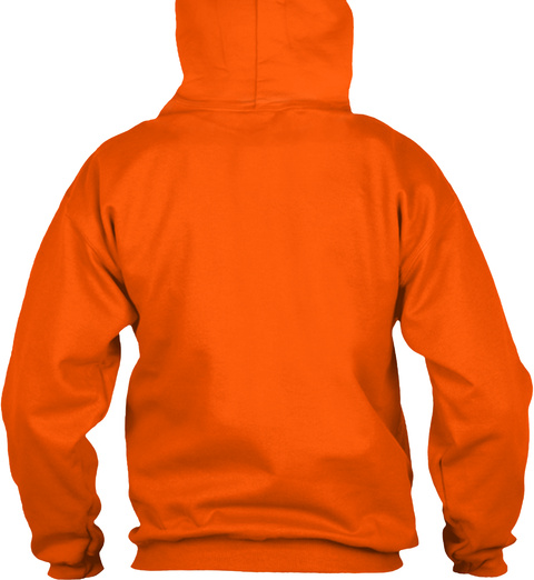Hoodie Aloha Hawaii Safety Orange T-Shirt Back