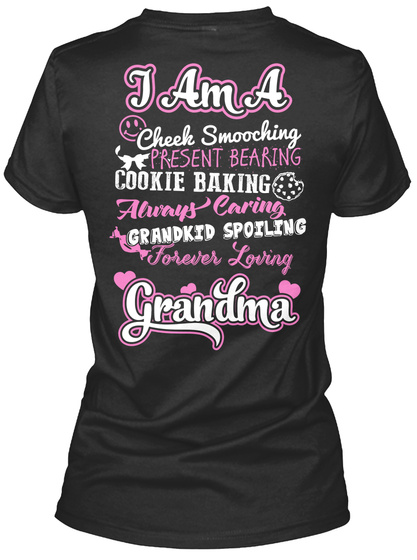 Wear This Grandma Poem Shirt? Black Women's T-Shirt Back