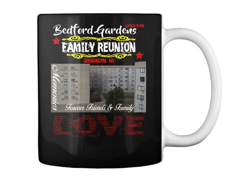 Bedford Gardens Reunion Mug 2018 Black Mug Back