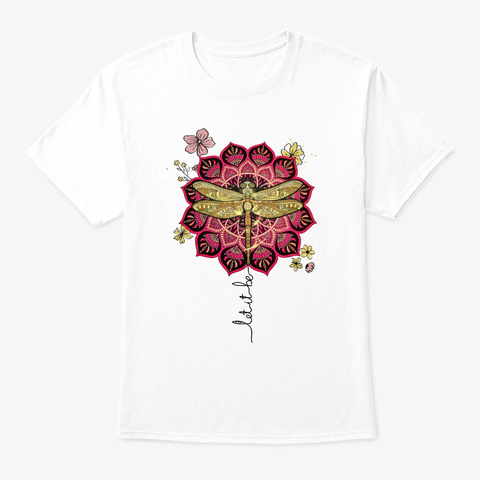 Flower Children Let It Be Costume White T-Shirt Front