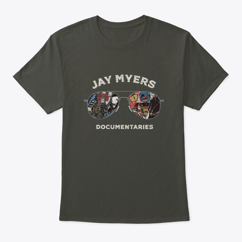 Jay Myers Documentaries Official Tshirts Smoke Gray T-Shirt Front