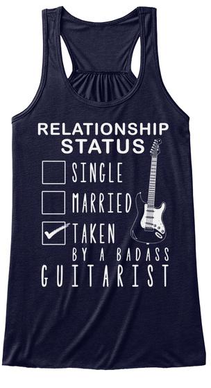 Relationship Status Single Married Taken By A Badass Guitarist Midnight T-Shirt Front