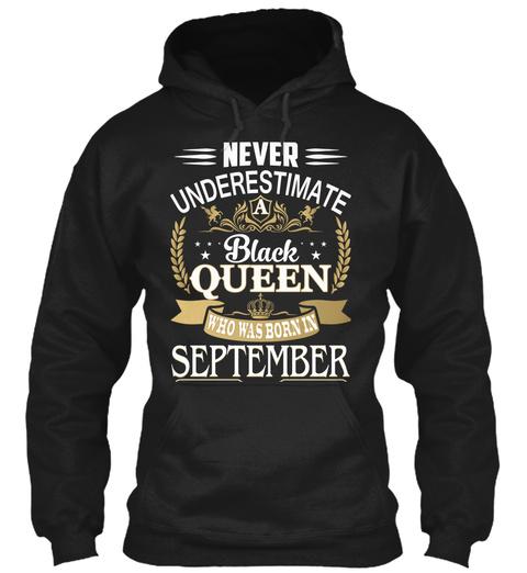 Black Queen   September Black T-Shirt Front