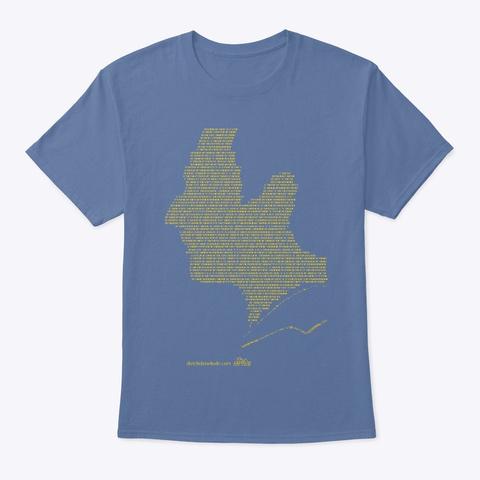 Data. Denim Blue T-Shirt Front