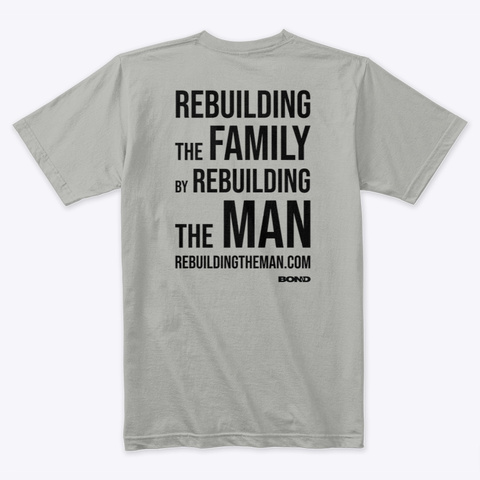 Rebuilding Family Back Stack Black Ink Light Grey Kaos Back