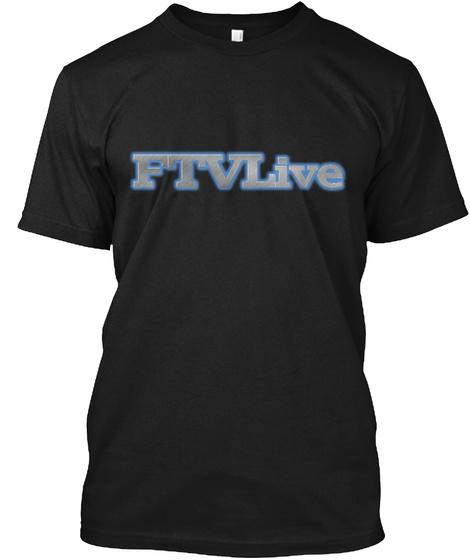 Ptvlive Black T-Shirt Front