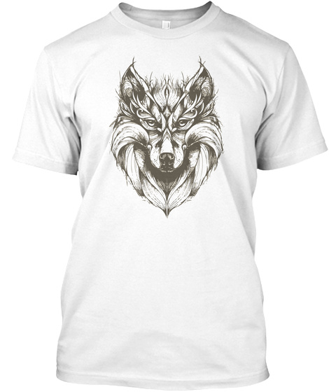Best Draw Wolf Design White T-Shirt Front