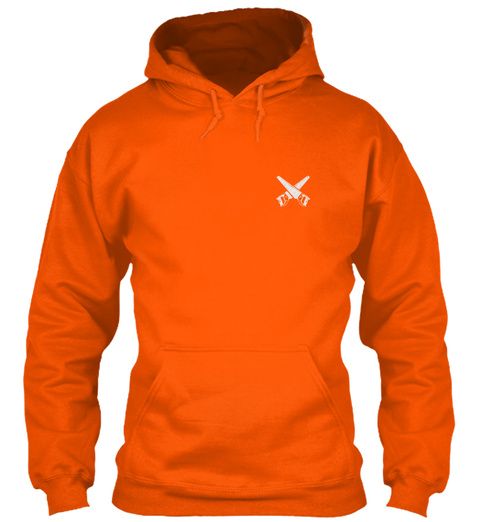Awesome Carpenter Shirt Safety Orange T-Shirt Front