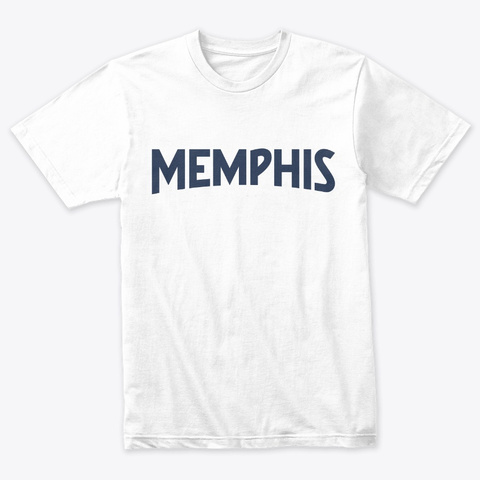 Memphis Tee Heather White T-Shirt Front