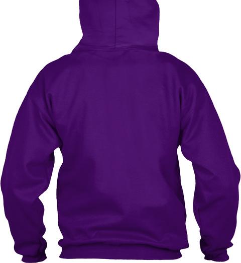 Hockey And Rum Hoodie Purple Maglietta Back