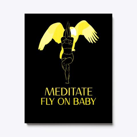 Meditate Black T-Shirt Front