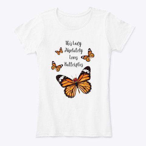 Butterfly Lady Tee White T-Shirt Front