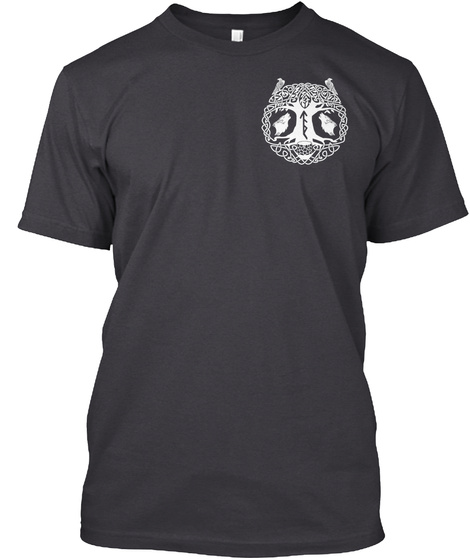 Support Tac!  Charcoal Black T-Shirt Front