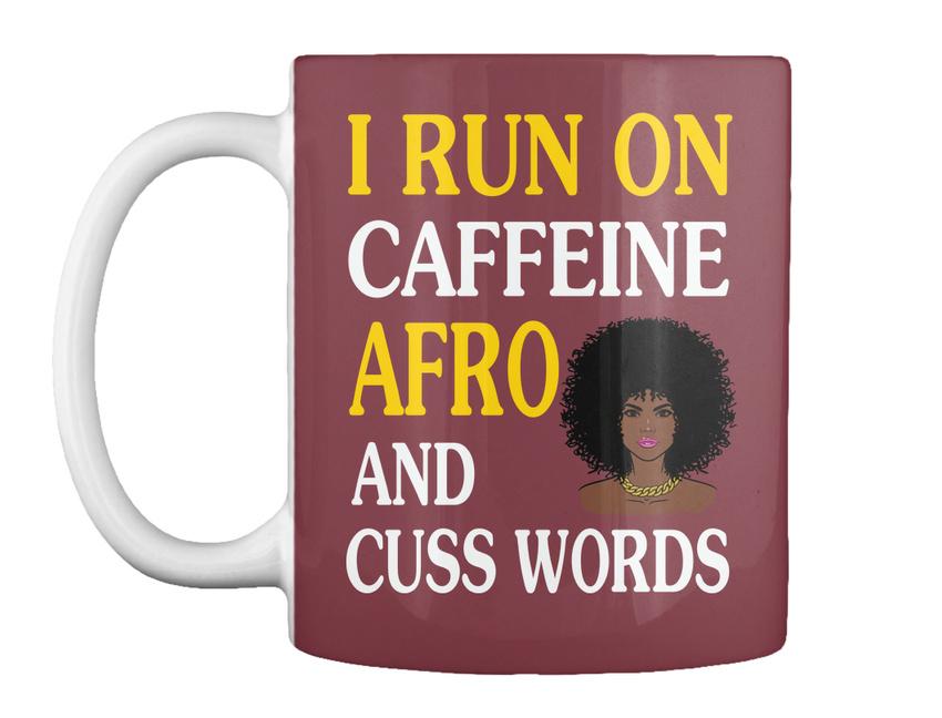 miniature 13 - Run On Caffein And Afro - I Caffeine Cuss Words Gift Coffee Mug