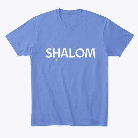 Shalom Shirts, Masks, Sweatshirts Etc Heathered Royal  T-Shirt Front