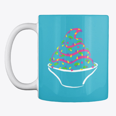 Yolo Colored Mugs Turquoise T-Shirt Front