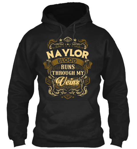 Naylor Blood Runs Through My Veins Black T-Shirt Front
