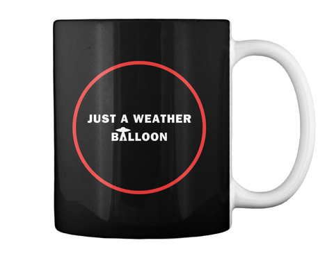 Just A Weather Balloon Mug [Usa] #Sfsf Black Mug Back