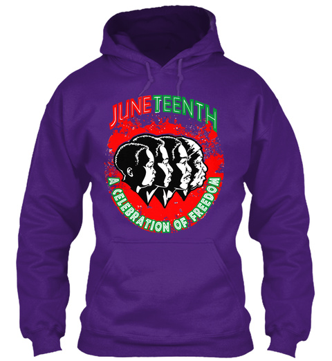 Juneteenth A Celebration Of Freedom Purple T-Shirt Front