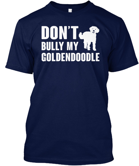 Goldendoodle Navy T-Shirt Front