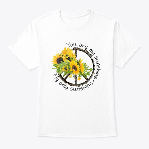 Flower Children Sunshine Costume White T-Shirt Front