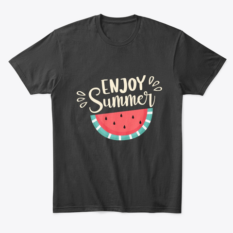 Summer Enjoy Tee Black T-Shirt Front