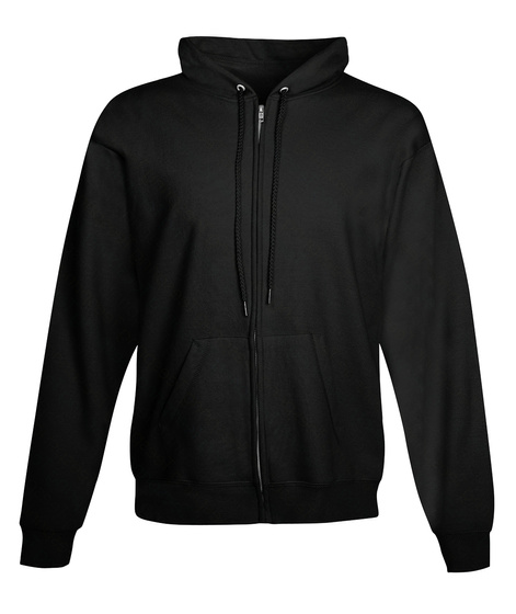 Rocket Builders Zip Hoodie  Black Sweatshirt Front