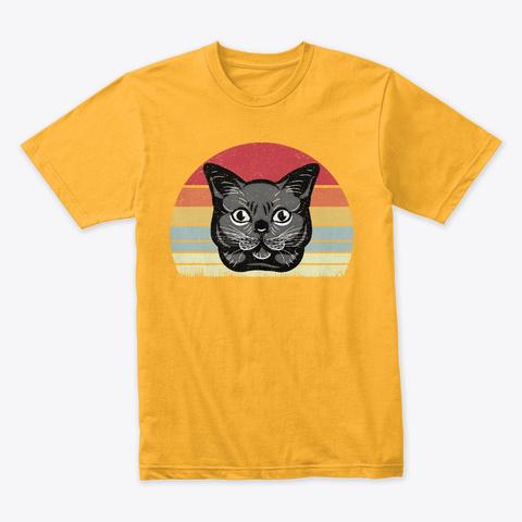 Great Cat Mood Design T Shirt Gold T-Shirt Front