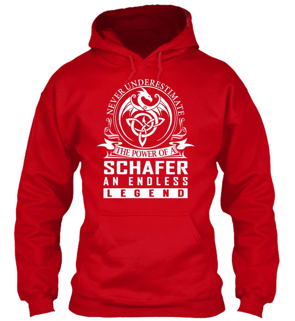 Never Underestimate The Power of Schafer Hoodie Black