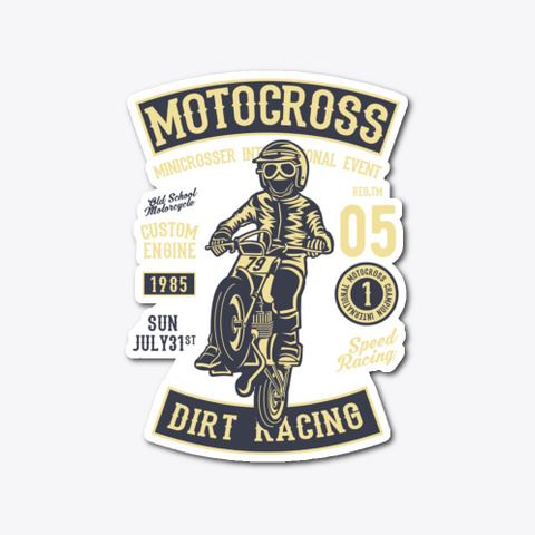 Motocross Dirt Racing   Awesome Motocros Standard T-Shirt Front