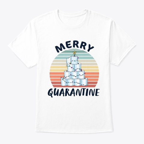 Merry Toilet Tree Christmas 2020 Gift White T-Shirt Front