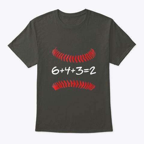 6 4 3 2 Baseball Math Art | Cute Softb  Smoke Gray T-Shirt Front